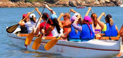Encontre aula de canoa havaiana