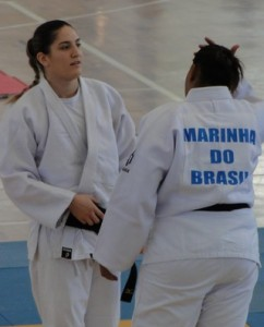 Campeã mundial de judô, Mayra Aguiar treina no Cefan (Foto: Helena Rebello)
