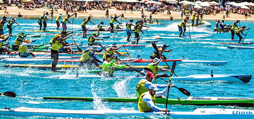 [VIDEO] 1ª Etapa do Campeonato Paulista de Canoagem Oceânica 2013
