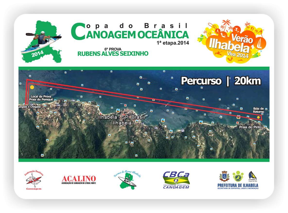 Percurso da Copa Brasil de Canoagem Oceânica 2014 - 1ª Etapa Ilhabela