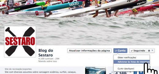 Página Blog do Sestaro