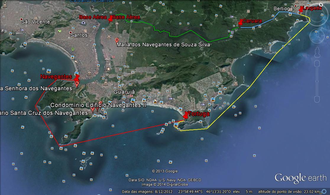Percurso Volha da Ilha de Santo Amaro 2014