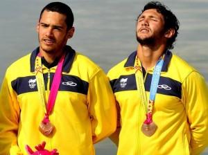 Gilvan e Givago Ribeiro, Bronze nos Jogos Pan Americanos de Guadalajara, pré Olímpico para Londres 2012.