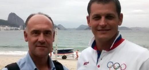 José Luis Garcia Portugal e Djordje Visacki Sérvia praia de Copacabana - Rio 2016 (Foto: Leonardo Filipo)