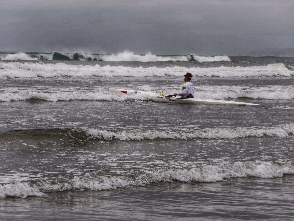 Fernando Fernandes embarcando na Ocean Sprint