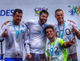 Fernando Fernandes, Caio Ribeiro, Fernando Rufino Cowboy na Ocean Sprint durante a 5ª etapa da Canoagem Oceânica