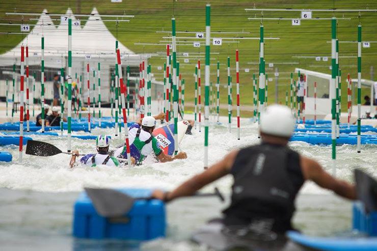 Evento-teste da Canoagem Slalom, no Complexo Olímpico de Deodoro