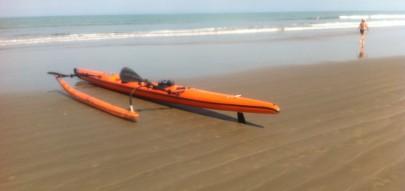 VENDE-SE: Canoa Havaiana OC2 da Nautilus Ubá2, em Praia Grande/SP