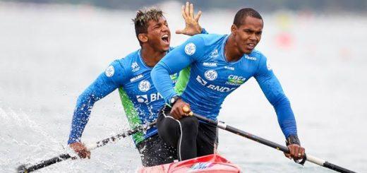 Isaquias Queiroz dos Santos e Erlon de Souza Silva na C1 1000m