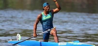 Isaquias Queiroz após classificação para a final dos 200m. 17/08/2016 REUTERS/Murad Sezer