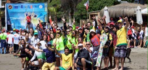 Parte da delegação do Brasil no sul-americano de Va'a 2016